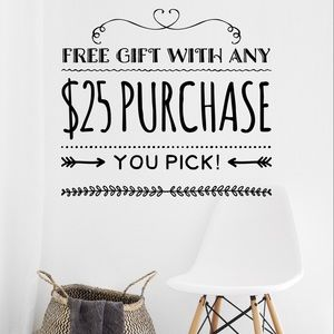 ✨ FREE ✨ Gift with Any $25 Purchase